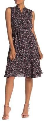 Nanette Lepore NANETTE Sleeveless Floral Pleated Dress