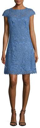 Tadashi Shoji Lace A-Line Dress $419 thestylecure.com