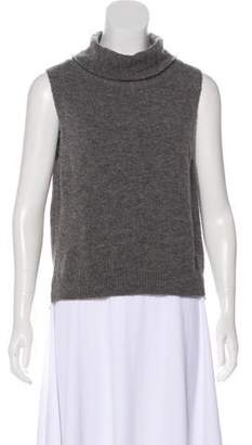 Michelle Mason Sleeveless Knit Turtleneck Top