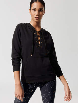 Running Bare TIE ME UP LACE UP PULL OVER HOODIE