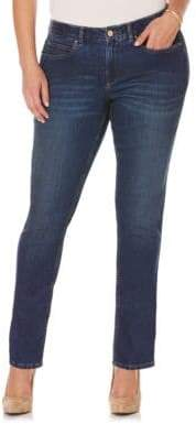 Rafaella Plus Cotton-Blend Skinny Jeans