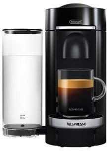 Nespresso by Delonghi Vertuo Plus Deluxe Coffee & Espresso Single-Serve Machine & Aeroccino Milk Frother