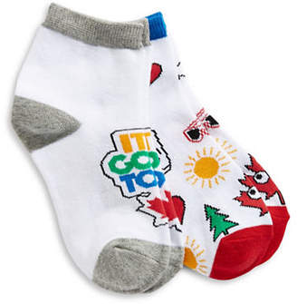 CANADIAN PARALYMPIC TEAM COLLECTION Girls Two-Pack Quarter Crew Socks