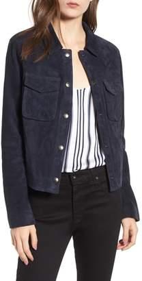 AG Jeans Ari Suede Trucker Jacket