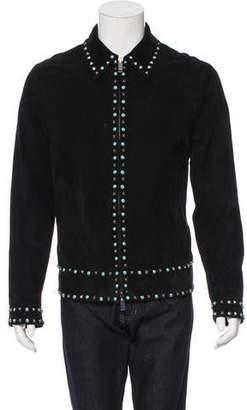 Valentino Rockstud Suede Jacket