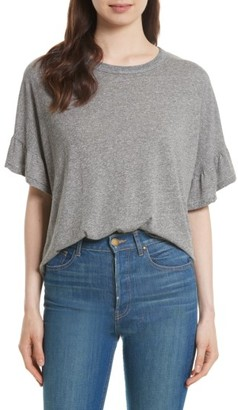 Women's The Great. The Ruffle Sleeve Tee $135 thestylecure.com