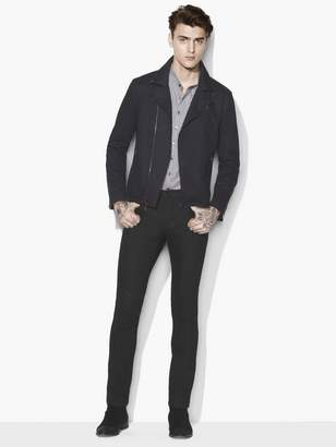 John Varvatos Denim Biker Jacket