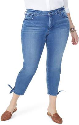 NYDJ Ami Tie Hem Ankle Skinny Jeans