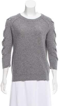 Tess Giberson Cutout Knit Sweater
