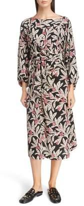 Etoile Isabel Marant Lisa Floral Print Midi Dress