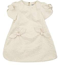 Mimisol MIMISOL KIDS' FLORAL BROCADE SHORT-SLEEVE DRESS