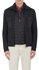 Fay MEN'S LAYERED WOOL JACKET-GRAY SIZE XXL