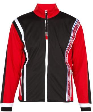 Givenchy Logo Trimmed Panelled Track Jacket - Mens - Red