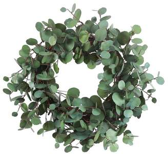 Pottery Barn Faux Eucalyptus Wreath, 24""