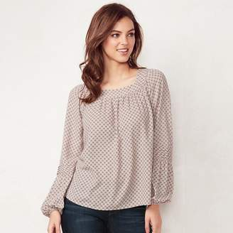Lauren Conrad Women's Love, Lauren Shirred Peasant Top