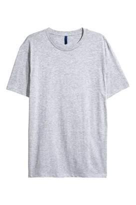H&M Long T-shirt - Gray melange - Men
