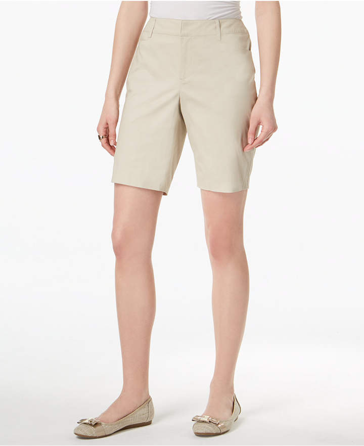Charter Club Petite Twill Bermuda Shorts, Created for Macy's