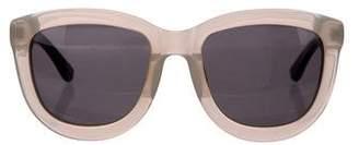 Linda Farrow The Row x Crocodile Tinted Sunglasses