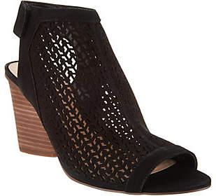 Vince Camuto Leather Peep-toe Sandals- Dastana