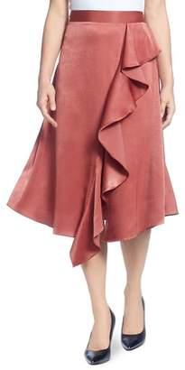 Catherine Malandrino Draped Ruffle Midi Skirt