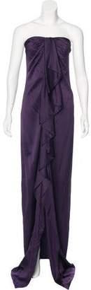 Valentino Ruffled Evening Dress