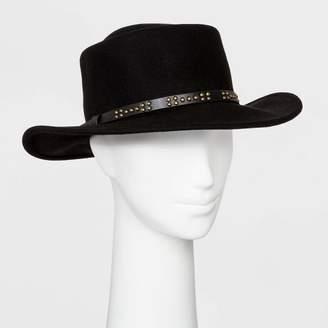 Universal Thread Women's Felt Boater Hat - Universal ThreadTM Black