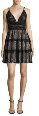 Alice + Olivia Olive Tiered Lace Dress $695 thestylecure.com