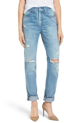 Women's Madewell Perfect Vintage Ripped High Waist Boyfriend Jeans $135 thestylecure.com