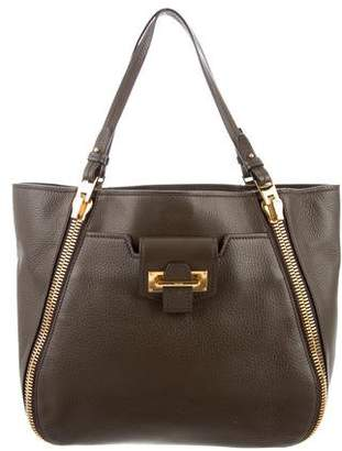 Tom Ford Leather Sedgwick Double Zip Tote
