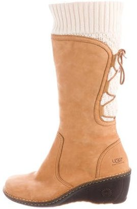 UGG Australia Shearling Wedge Boots $145 thestylecure.com