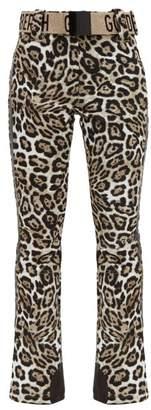 Goldbergh - Roar Panther Print Belted Soft Shell Ski Trousers - Womens - Leopard