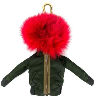 Mr & Mrs Italy pom-pom bomber jacket keyring