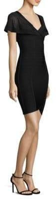 Herve Leger Short-Sleeve Sheath Dress