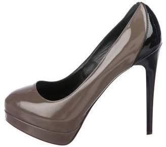 Ruthie Davis Patent Leather Round-Toe Pumps