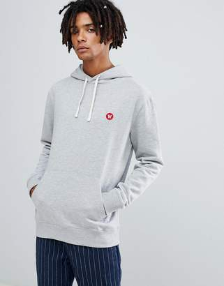 Wood Wood Ian hoodie with small logo in gray