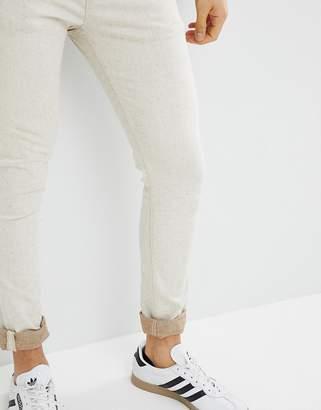 Asos DESIGN Super Skinny Jeans In Ecru