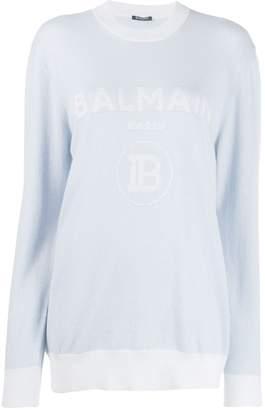 Balmain intarsia logo sweater