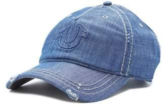 True Religion Distressed Horseshoe Baseball Cap