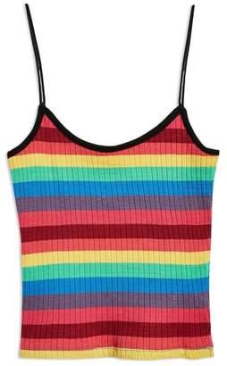 Topshop Rainbow Stripe Camisole Top
