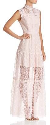 Aqua Tiered Lace Maxi Dress - 100% Exclusive