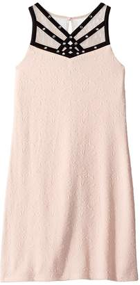 Us Angels Sleeveless Textured Knit Sheath Dress Girl's Dress