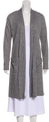Fleurette Striped Open Front Cardigan