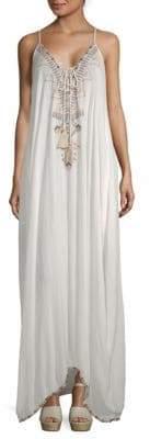 Saks Fifth Avenue Beaded Maxi Peasant Dress