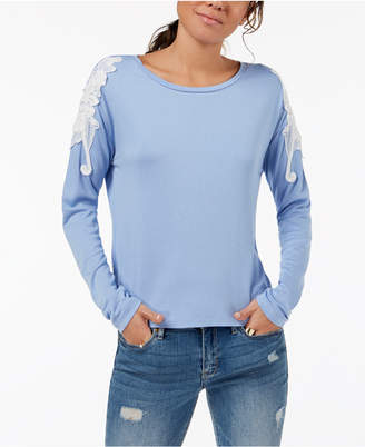 One Hart Juniors' Embroidered Long-Sleeve T-Shirt, Created for Macy's