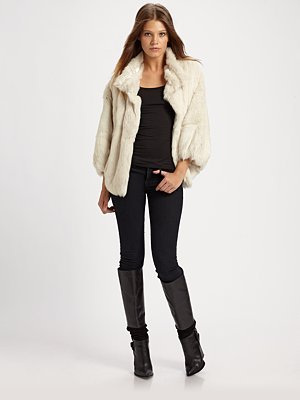 Toki Rabbit Fur Coat