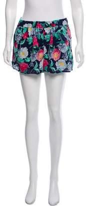 Joie Floral Silk Shorts