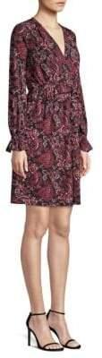 MICHAEL Michael Kors V-Neck Paisley A-Line Dress