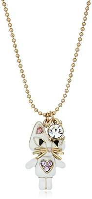 "Betsey Johnson Mini Critters"" Cat Pendant Necklace"