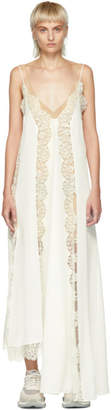 Stella McCartney Off-White Lace Insert Slip Dress