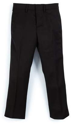 Burberry Wool Slim-Fit Tuxedo Pants, Black, Size 4-14